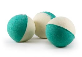 White and Emerald Green CBD Bath Bomb