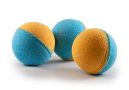 Orange and Blue Bath Bomb