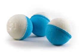 White and Blue CBD Bath Bomb
